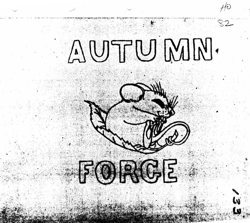 The cover page from a briefing on Autumn Forge 82