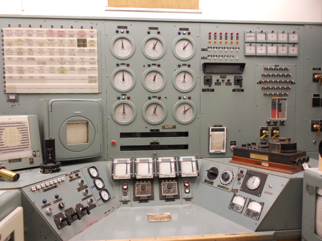 The control room of the B Reactor