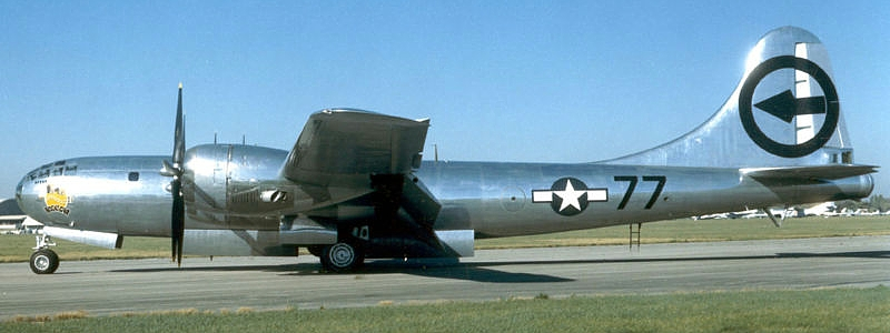"A ""Silverplate"" B-29 Bomber"