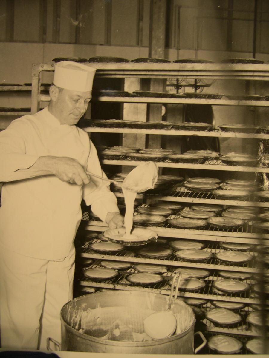A cook makes pies at Hanford.