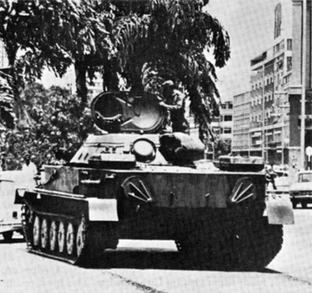 Cuban on Tank in Angola