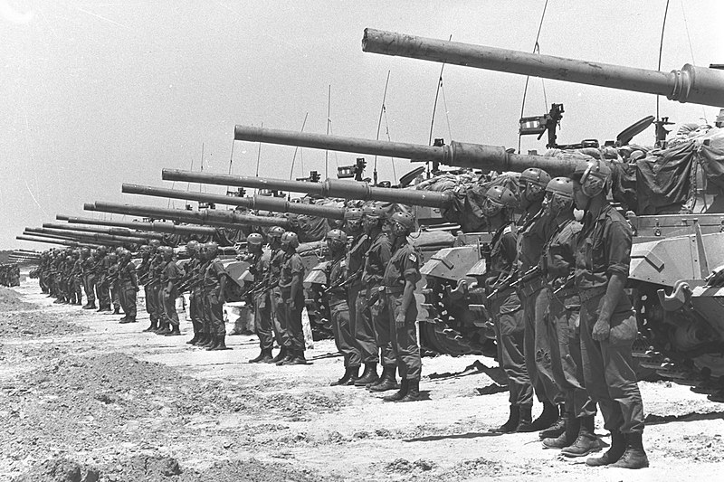 Israeli troops during the 1967 war
