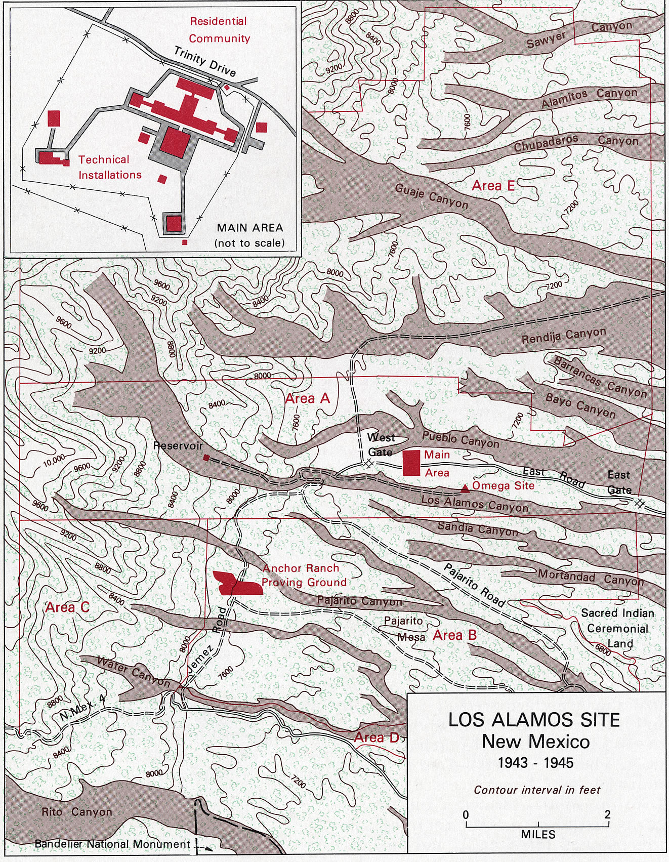 Los Alamos site map