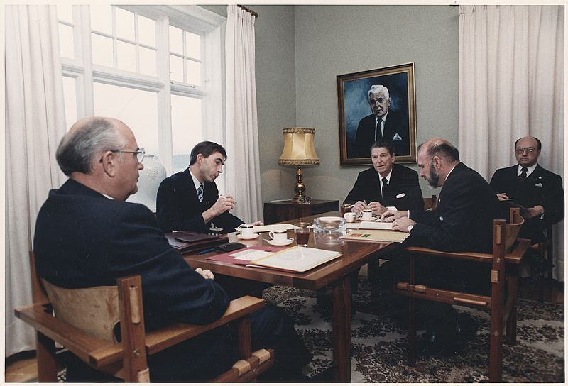 Reagan and Gorbachev at the Reykjavik Summit, 1986