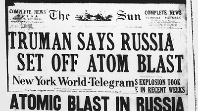 Truman announces Soviet nuclear test in 1949