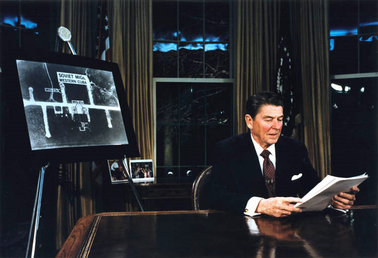 Reagan announces the Strategic Defense Initiative