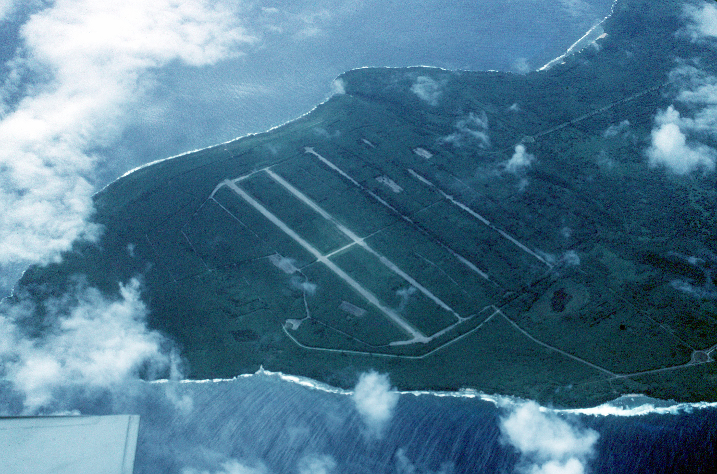 North Airfield at Tinian Island.