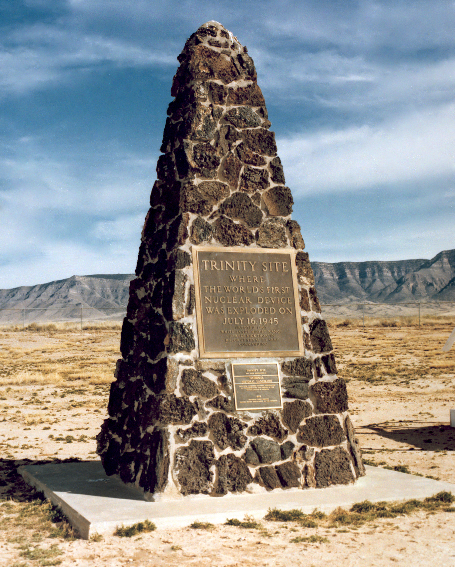 The Trinity Site monument