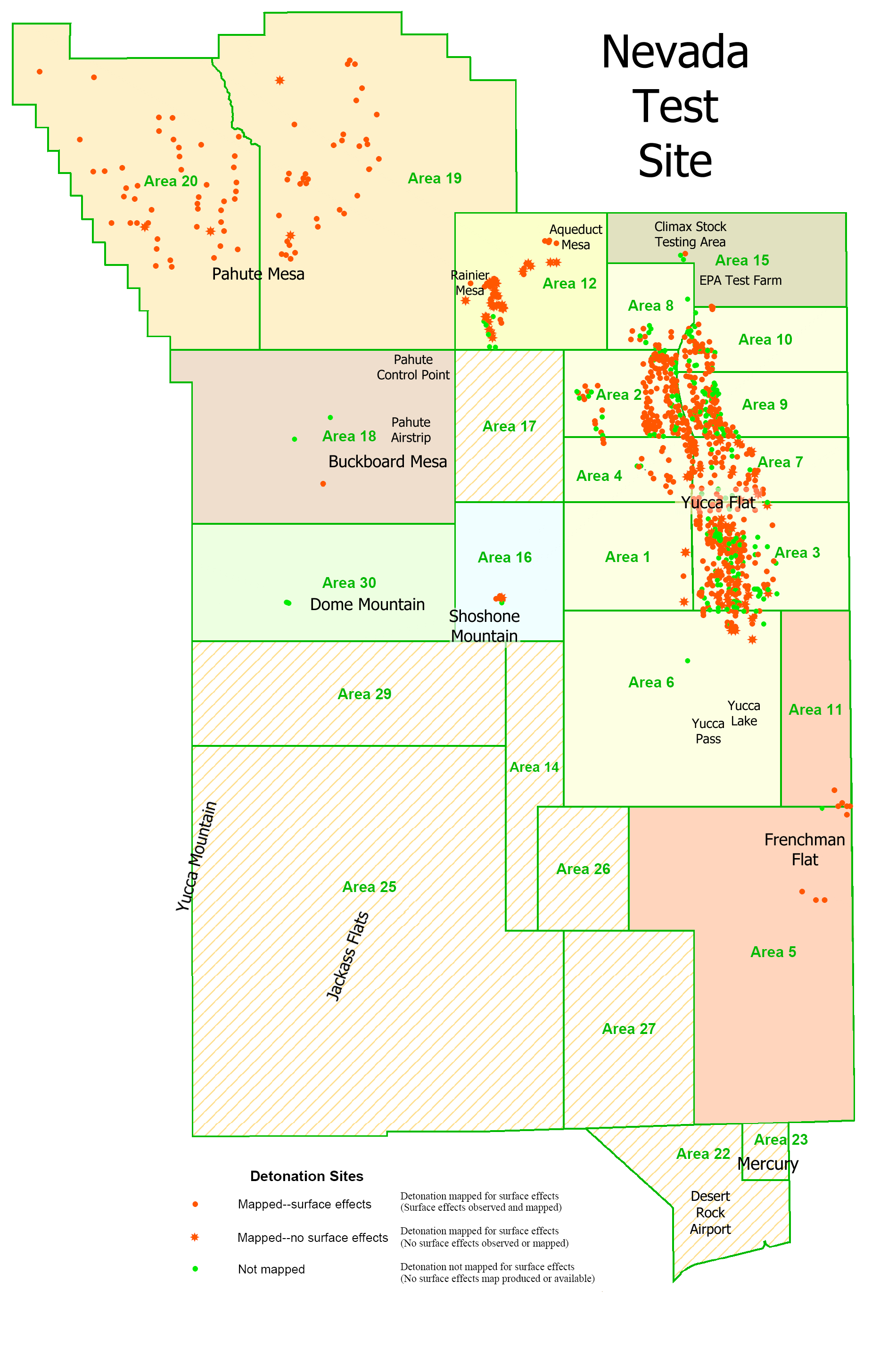 Nevada Test Site Map