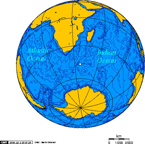 The approximate location of the Vela incident, courtesy of Wikimedia Commons/Geo Swan