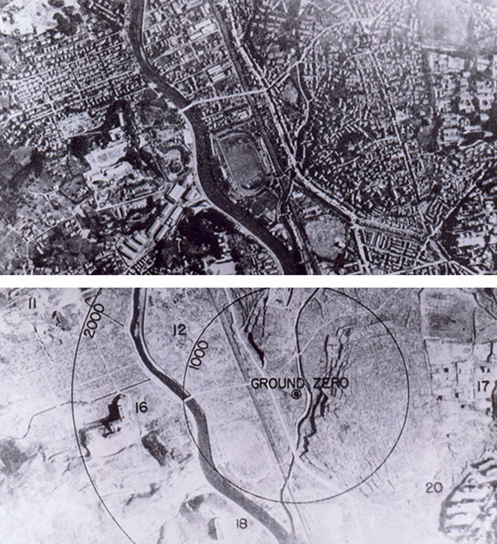 Nagasaki before and after