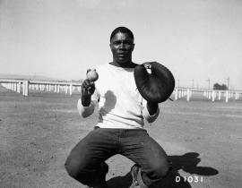 An African-American baseball player at Hanford during the Manhattan Project