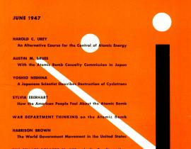 The first Bulletin of the Atomic Scientists, 1947