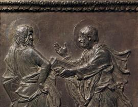 Section from the bronze doors of the Old Sacristy at San Lorenzo by Donatello