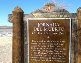 Jornada del Muerto marker. Photo courtesy of Ross Bussell.