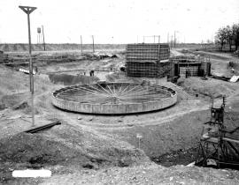 Waste tanks under construction