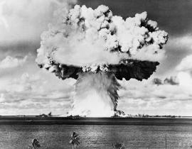 The mushroom cloud from Operation Crossroads-Baker in 1946