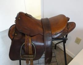 Vera Kistiakowsky's saddle. Photo courtesy of Vera Kistiakowsky.