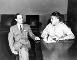 Sir James Chadwick and General Leslie R. Groves