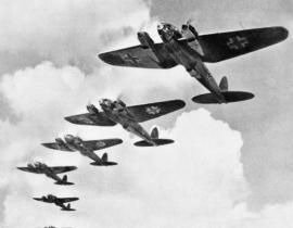 German Planes during the Battle of Britain. Photo Courtesy of Library of Congress