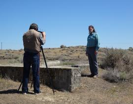 Mission Support Alliance archaeologist Tom Marceau at Hanford Site