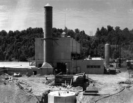 The Molten Salt Reactor under construction in 1963. Photo courtesy of DOE.