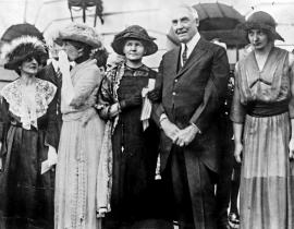 Marie Curie and President Harding, 1921