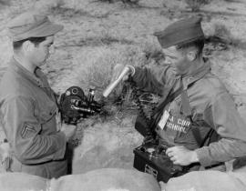 A Geiger counter in use in the field