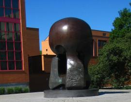 Nuclear Energy sculpture by Henry Moore