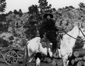 A homesteader on the Pajarito Plateau