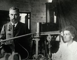 Pierre and Marie Curie in their laboratory. Photo courtesy of the Musée Curie (coll. ACJC).
