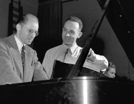Prof. Albert Schmid & Dr. Waldo Cohn in Oak Ridge, 1948