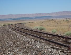 Railroad tracks on the Hanford Site today