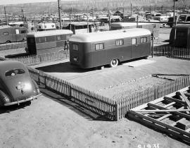 A trailer park at Hanford during the Manhattan Project