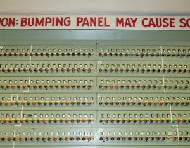 Caution: Bumping Panel May Cause SCRAM!