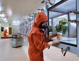 This wind tunnel is helping research determine whether toxic airborne materials enter the chain through the leaves of plants. Photo courtesy of PNNL