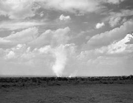 A dust devil at the Trinity Site