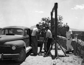 Loading the Gadget core into a car before the Trinity Test