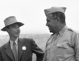 J. Robert Oppenheimer and General Leslie Groves at the Trinity Site