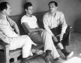 John von Neumann, Richard Feynman, and Stanislaus Ulam at Los Alamos