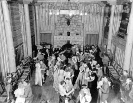 A Los Alamos Ranch School dance at Fuller Lodge. Photo courtesy the Los Alamos Historical Museum Archives.