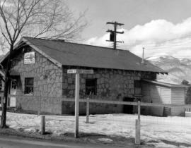 The Stone Power House, c. 1950. Photo courtesy of the Los Alamos Historical Museum Archives.