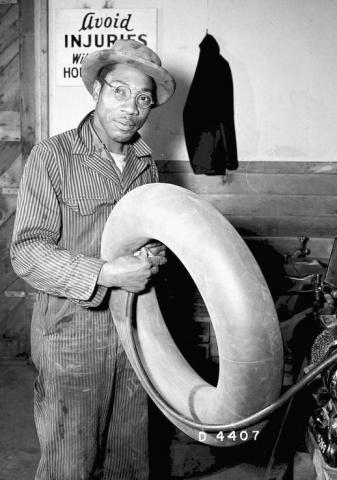 An African-American worker at Hanford