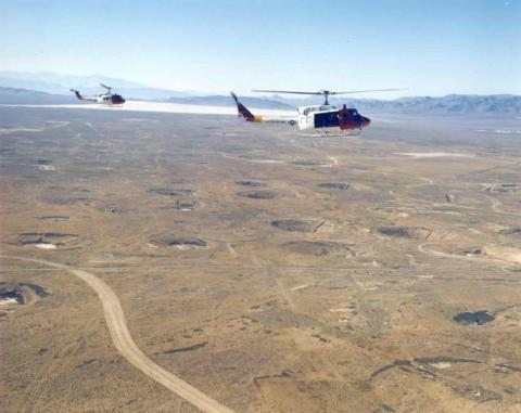 Nevada Test Site From Above (Yucca Flats)