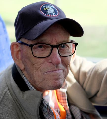 Ed Westcott in Washington for an Honor Flight, 2016