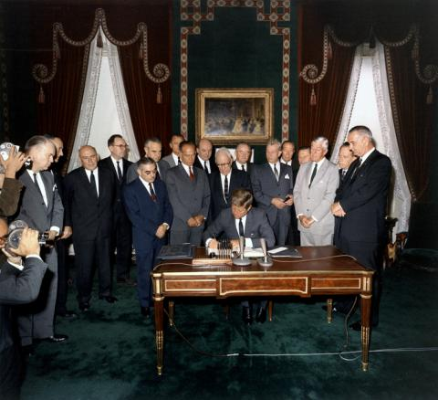Kennedy signs the LTBT