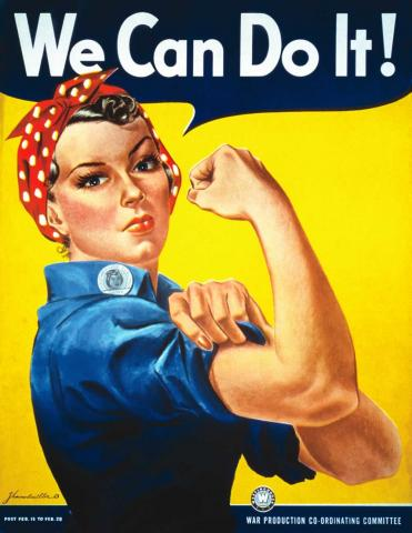 """The """"We Can Do It!"""" poster by artist J. Howard Miller."""