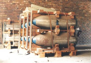 South African nuclear bomb casings, courtesy of Mungo Poore