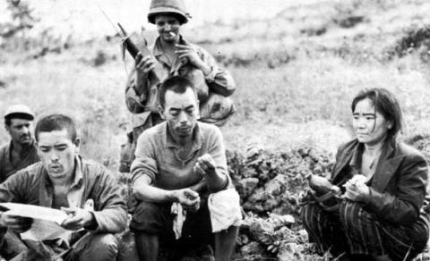 Japanese resistance fighters captured