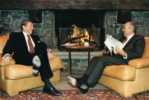 Reagan and Gorbachev at the Geneva Summit